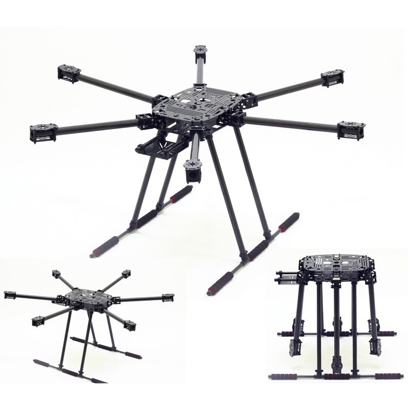 ZD850 Full Carbon Fiber 850MM Frame Kit with Unflodable Landing Gear Foldable Arm for FPV DIY Aircraft Hexacopter