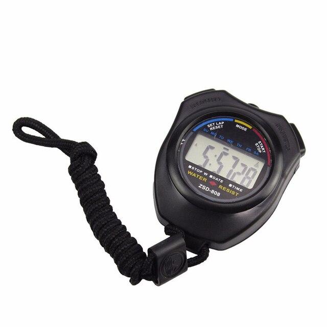 Superior Impermeabile LCD Digitale Cronometro Timer Cronografo Contatore Sport Allarme Ottobre 18 *