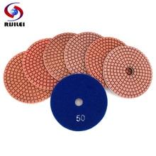 RIJILEI 10PCS/Set 4inch Diamond Polishing Pads Flexible Wet polishing pads for Stone Marble Abrasive Tools Free shipping HC11