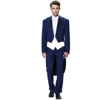 Mens Wedding Suits Dovetail suit Groom Tuxedos Formal Business Suits Blazers customize the groom wedding suit