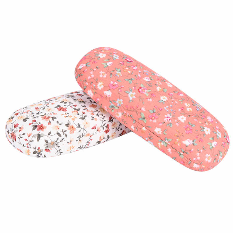 New Sunglasses Case Protable Floral Sunglasses Hard Eye Glasses Case Eyewear Protector Box Pouch Bag 1pc