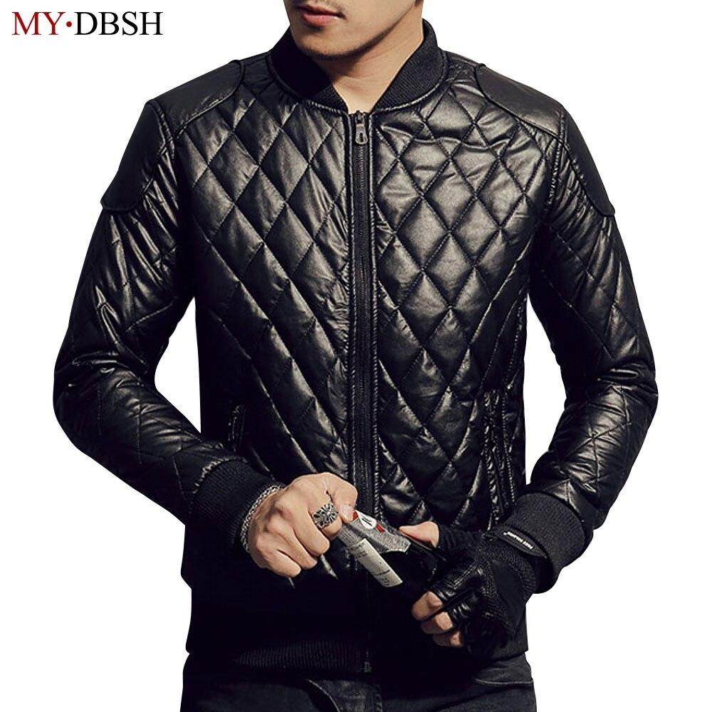 2018 New brand motorcycle leather jackets Fashion Bomber Jacket Men Long Sleeve Zipper Casual Warm Outwear Waterproof Overcoat