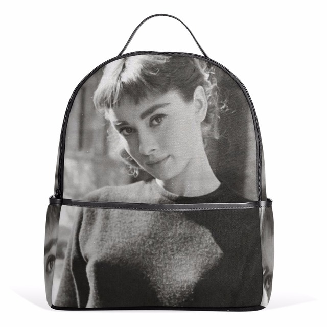 Unicreate Audrey Hepburn Women Fashion Bags Book Bag Canvas Backpack Travel Daypack Backpacks For Age S