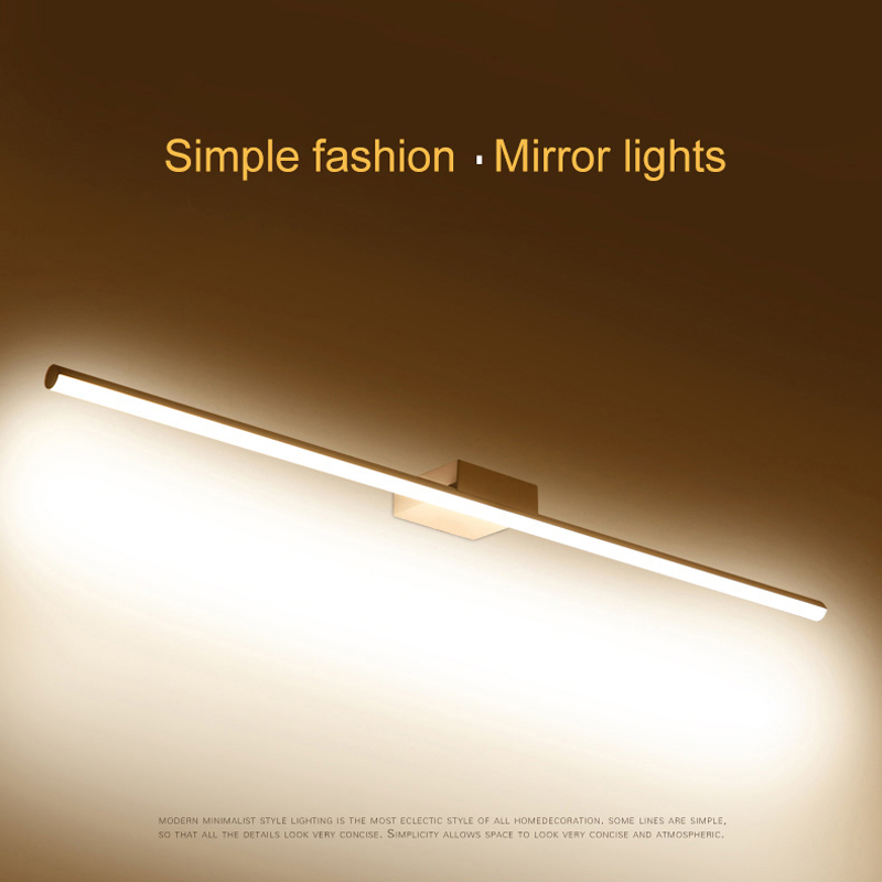 Modern LED wall&Mirror Lights White 0.4-1.2M Anti-fog LED Bathroom lights dressing table/toilet/bathroom sconce&mirror lamp zx modern acryl led mirror wall lamp waterproof and anti fog cabinet mirror light bathroom toilet dressing room make up lamp