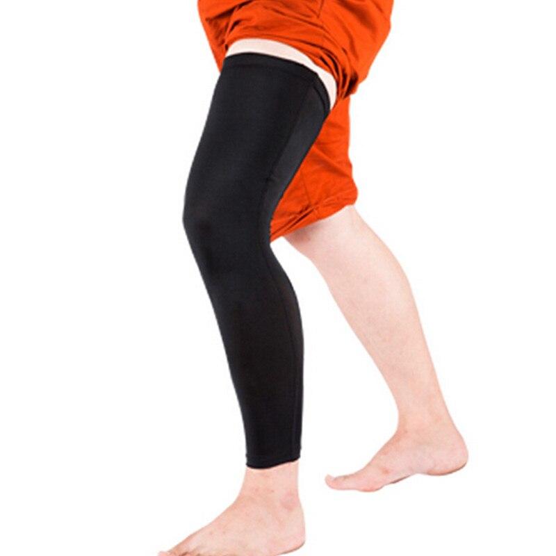 1 pár Basketbal Cyklistika Muži Ženy Nohy Ohřívače Elastické Stretch Vysoké ponožky Skinny Punčochy Sportovní nohavice Chrániče kolen