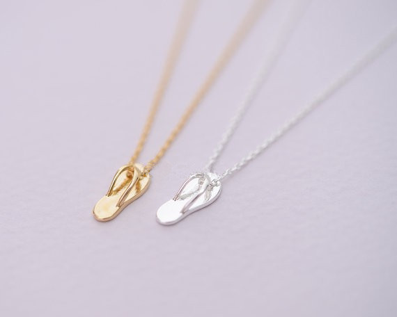 Fashion slippers pendant necklace personality splint slipper fashion slippers pendant necklace personality splint slipper pendant necklaces wholesale free shipping aloadofball Image collections