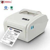 High quality Thermal Label Printer Barcode printer 110mm Logistic USB/Bluetooth Auto Peeling Portable Printer RD-9210