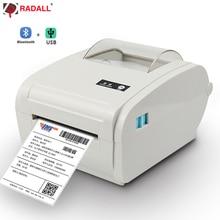 High quality Thermal Label Printer Barcode printer 110mm Logistic USB/Bluetooth Auto Peeling Portable RD-9210