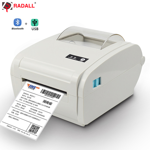 High quality Thermal Label Printer Barcode printer 110mm Logistic USB/Bluetooth Auto Peeling Portable Printer RD-9210