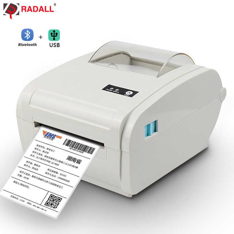 Tinggi Kualitas Termal Printer Label Barcode Printer 110 Mm Logistik USB/Bluetooth Auto Mengupas Printer Portabel RD-9210