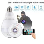 Alfawise E27 WiFi 360 Degree Panoramic IP Camera 960P Home Security Camera Support 64GB Infrared Night Vision Light Bulb Camera