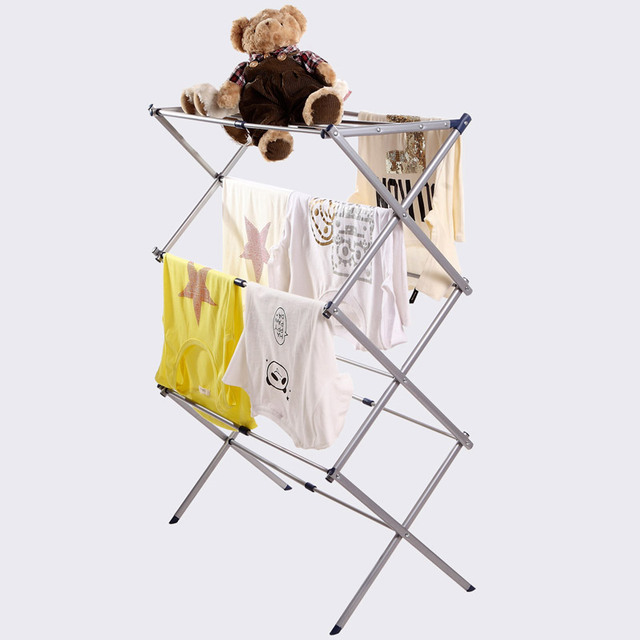 Extendable Free Standing Towel Drying Rack For Baby Cloth And Towel
