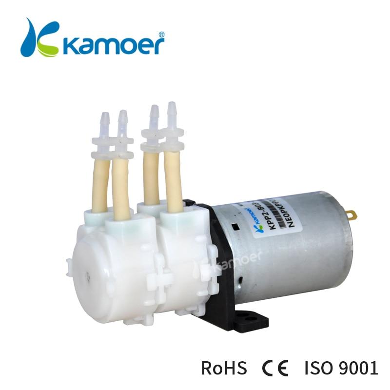 12V DC water pump double head mini peristaltic pump 12V micro peristaltic dosing pump mini electric water pump Kamoer(L) KPP2 1pcs 12v anti corrosion vacuum pump mini 0 400 ml min self suction peristaltic pump
