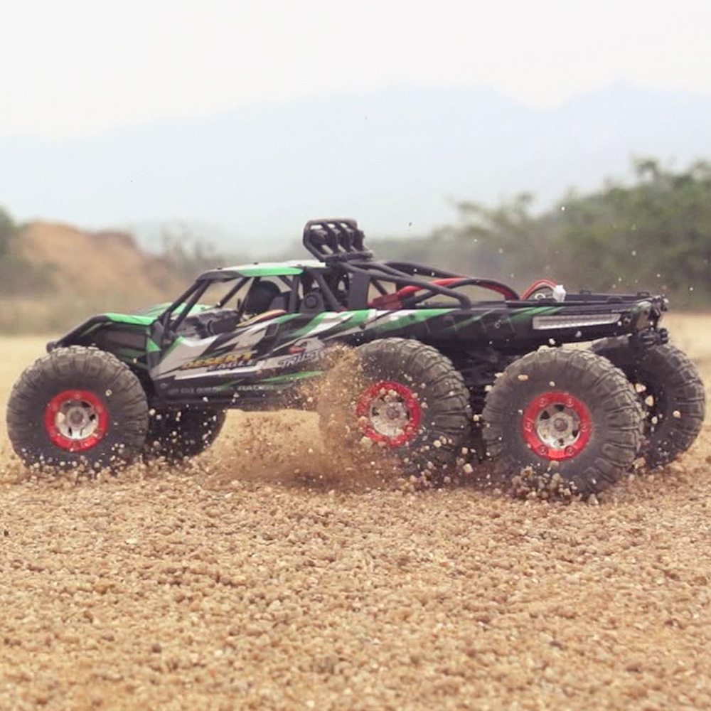 FEIYUE FY06 1:12 2.4GHz 6WD RC Off-road Desert Truck RTR 60km High-speed / Metal Shock Absorber / LED LightsFEIYUE FY06 1:12 2.4GHz 6WD RC Off-road Desert Truck RTR 60km High-speed / Metal Shock Absorber / LED Lights