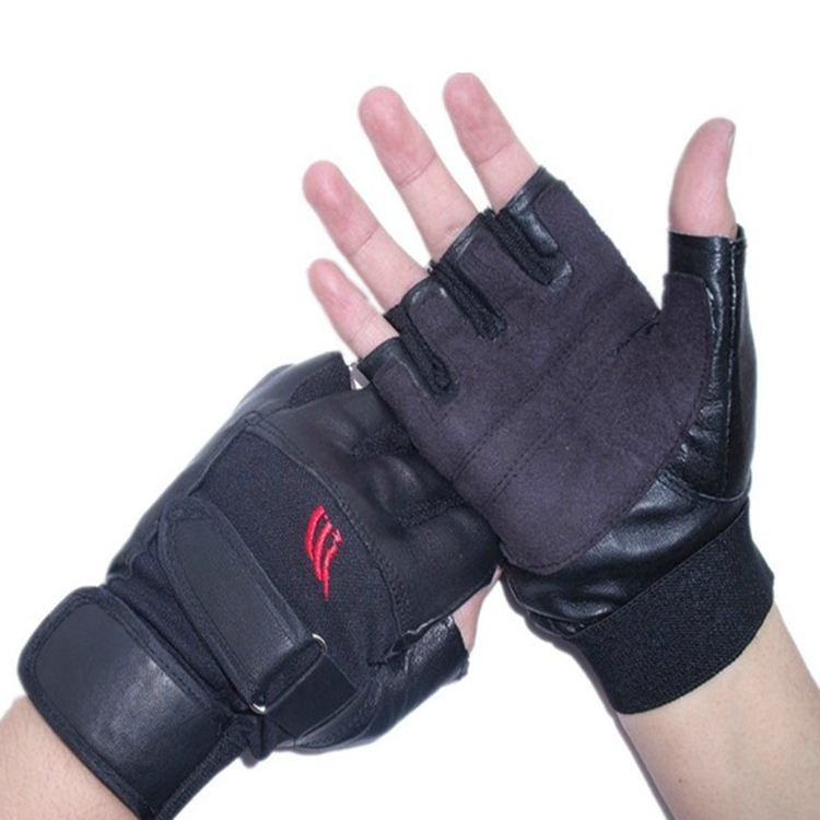 Shipping leather glove and Charlie thin summer mountaineering outdoor riding half locomotive protection sunscreen
