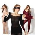 Women Winter Seamless Thermal Inner Wear Set Warm Tops+Pants 2Pcs Suit CX17