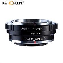 K&F Concept  Адаптер переходное кольцо FD-FX  для установки объектива Canon FD на фотокамеры Fujifilm FX X-Pro1 X-E1 X-М1 X-A1