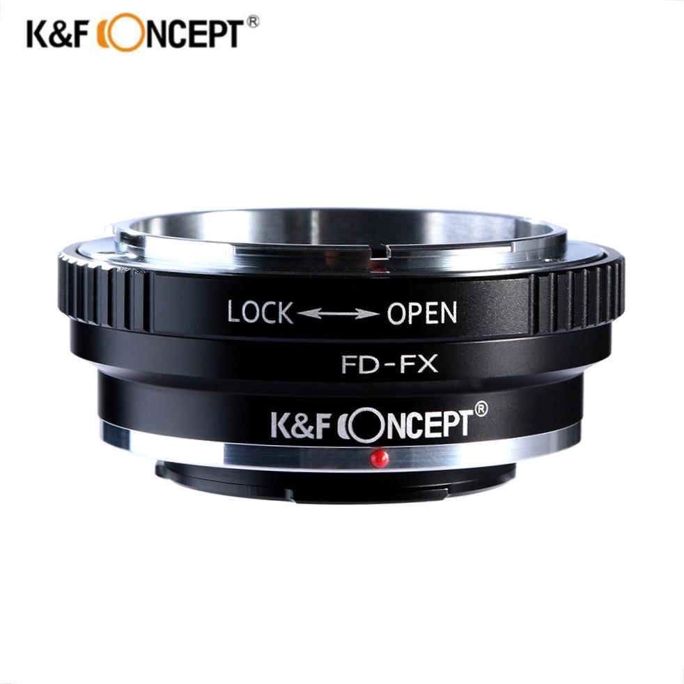 K & F Concept FD-FX lente anillo adaptador para Canon FD lente de montaje a Fujifilm FX montaje X-Pro1 X-E1 X-A1 x-M1 cámaras cuerpo
