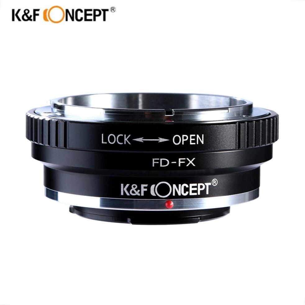 K & F concept FD-FX Adaptadores para objetivos para Canon FD lente de montaje a Fujifilm FX montaje x-pro1 x-e1 x-a1 x-m1 cámaras Cuerpo