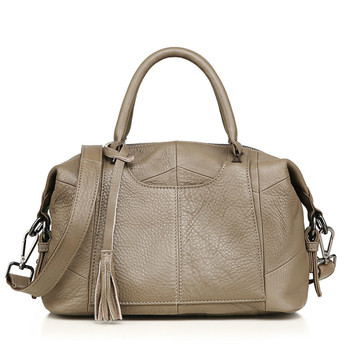 Organizer genuine leather women's bag over shoulder boston messenger handbag designer high quality cowhide clutch bolsos mujer