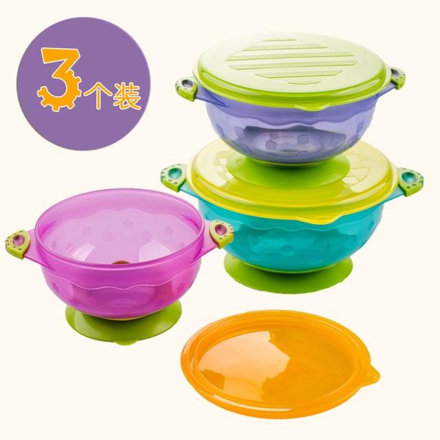 3 шт./компл. пищевых контейнеров детской посуды Посуда для детей миски пищевые контейнеры контейнер блюда тянуть TCJ30