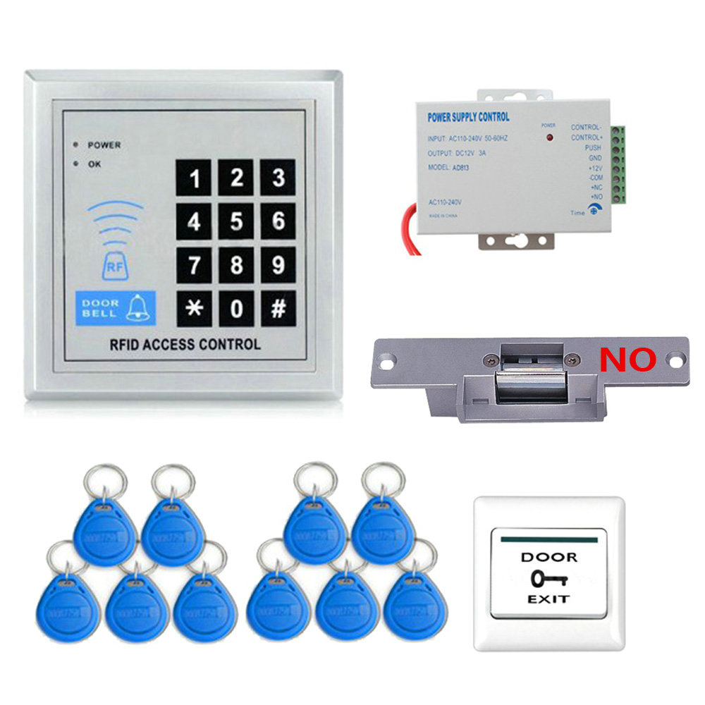 Full Rfid Door Access Control System Kit Set Electric