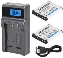 EN-EL19 аккумулятор 2 шт. + зарядное устройство для цифровой камеры Nikon Coolpix S2500, S2600, S2700, S2800, S2900, S4100, S4200, S4300, S4400