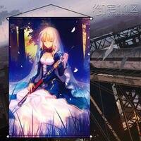 Anime Ev Dekor Poster Duvar Kaydırma Boyama Kader/kalmak Gece Altria Saber 60x90 cm