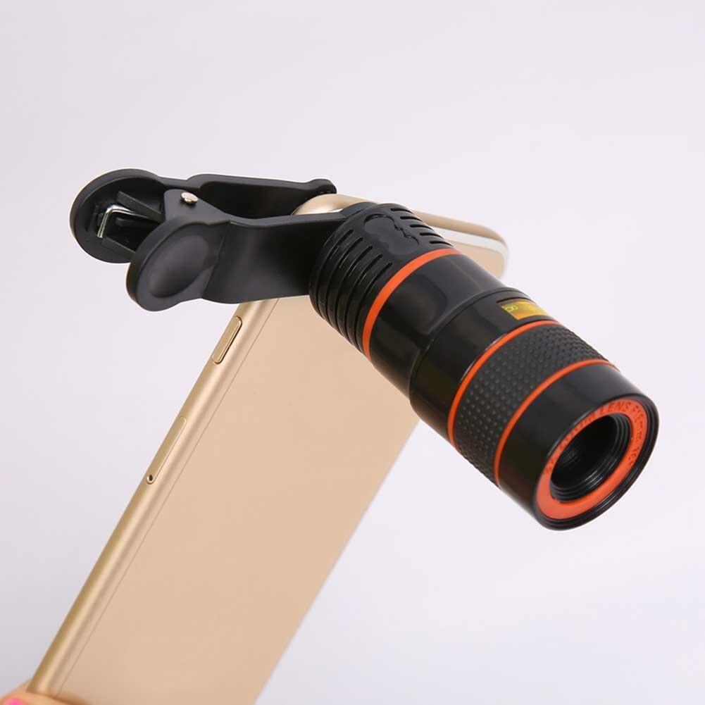Universal Techvilla 8X Zoom Portable Mobile Phone Telescope Camera Lens Magnifier Clip For Cellphone SmartPhone Photography
