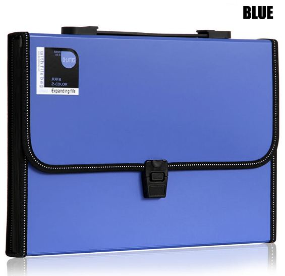Durable Waterproof Book A4 Paper File Folder Bag Accordion Style Document Rectangle expanding wallet Office Home School deli a4 folder 8 grids portable multi layer paper bag information package expanding wallet document bag school office supplies