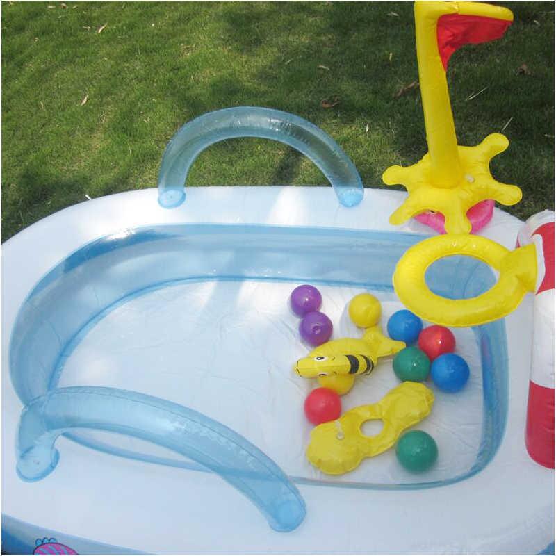Interest เด็ก inflation สระว่ายน้ำเรือรูปร่างพลาสติก oceanic สระว่ายน้ำให้ 10 ลูกบอลสนามเด็กเล่น 157*102*74 ซม.