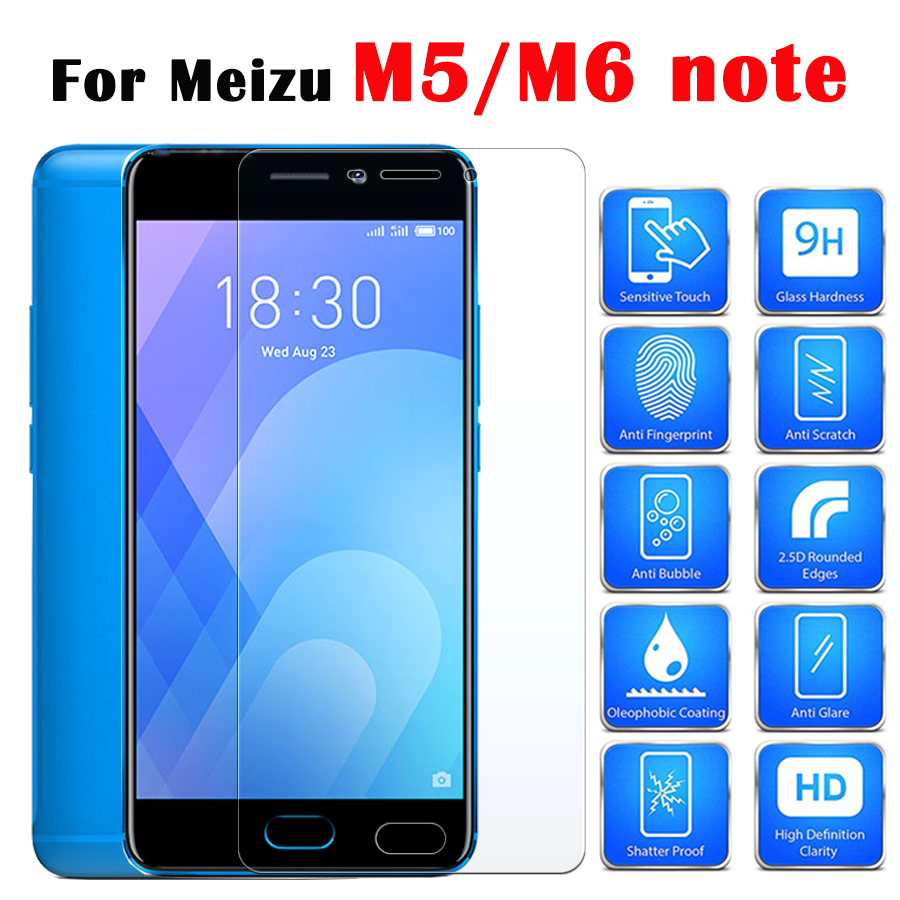 Protective glass on the for Meizu m5 m6 not note screen protector film maisie mezu tremp m 6 5 s tempered glas meuzu mei zu m6s image