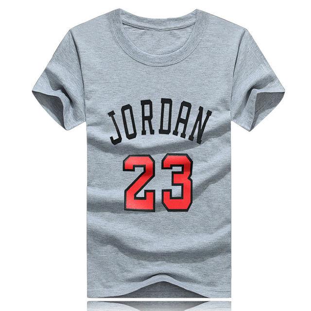 aa7123b45995b40 Surprise Price High Quliaty Cotton Jordan 23 Mens T Shirts Fashion 2017  Short Sleeve Couple T