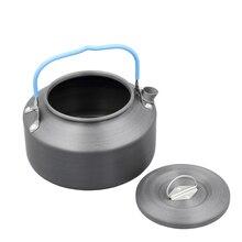 Ultralight 1.2L Camping Water Kettle Survival Teapot Waterpot Aluminum With Mesh Bag