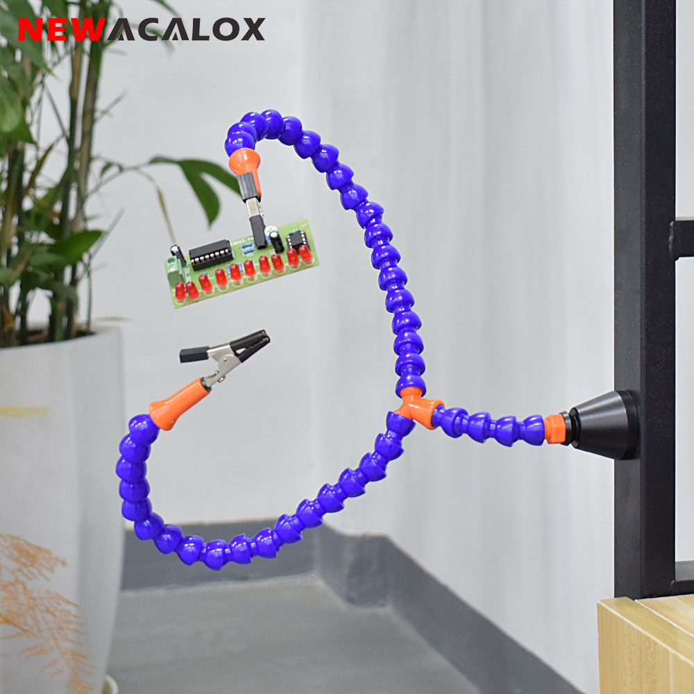 NEWACALOX Y-connector Magnet Base Soldering Iron Holder Soldering Station For PCB Fixture Helping Hands Repair Welding Tool
