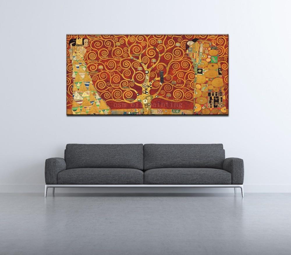 9ef51839a جدار الفن ديكور قماش طباعة الحديثة مجردة في الحب صورة الشكل تحت شجرة كبيرة  حمراء ديكور المنزل النفط المطبوعات