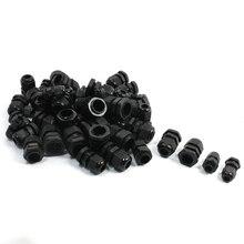 50 шт. PG7 PG9 PG11 PG13.5 PG16 черный Пластик Водонепроницаемые кабельные сальники