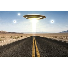Laeacco UFO Science Fiction Way Road Baby Portrait Scenic Photographic Backgrounds Photography Backdrop For Photo Studio
