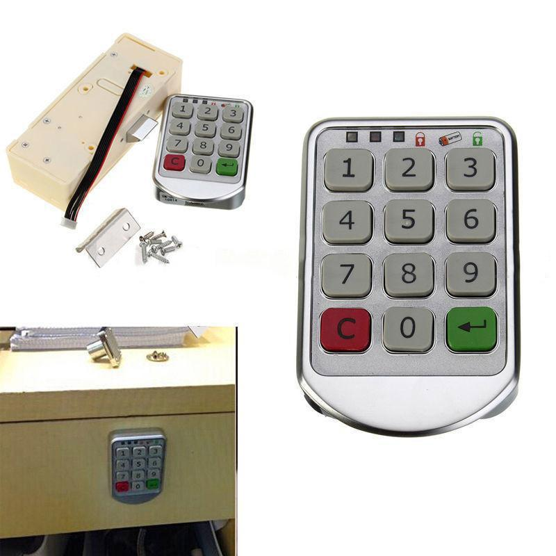 2017 Hot Electronic Digital Password Lock Password Keypad Number For Cabinet Door Drawer Code Locks Combination Lock