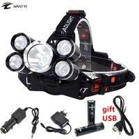 5 led headlight high power headlamp rechargeable head light 12000 lumens led xm l t6 4xpe.jpg 200x200