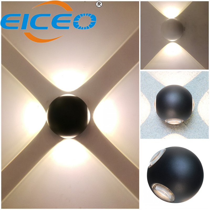 Us 38 3 2018 Led Wall Lights Decorative Lamp Whole Four Sided Luminous Round Circular Bathroom Beside Electronic Designs In Indoor