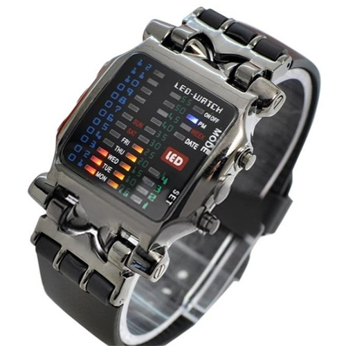 2018 New Arrival Popular Square Dial Uisex Binary LED Digital Watches Plastic Band Casual Sport Wrist Watch 5V5U