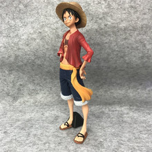 27cm Anime One Piec Monkey D Luffy 3D2Y Big Standing Straw Hat PVC Action Figure OP Zoro Sanji Model hat road fly