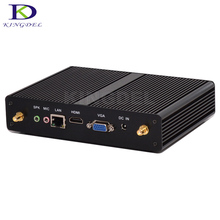 Безвентиляторный htpc core celeron 2955u/3205u/3215u пис 4 * usb 3.0 hdmi + vga mini pc windows неттопов компьютера desktop pc в наличии