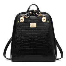 Leather Women Backpack 2018 Backpack Backpack Bag NEW Fashionista New  Students Are Bright Skin Korean Women e6d4264212202