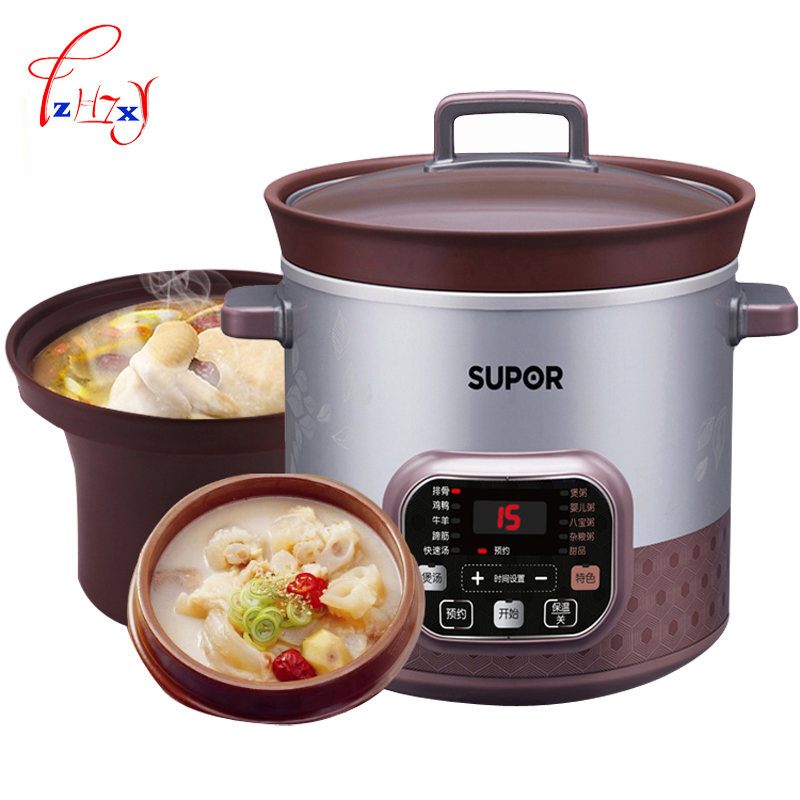 Electric cookers 5L Smart Electric Slow Cooker rice cooker stew soup porridge health mini Timer Control baby food steamer 1pc 1 2l rice cookers mini intelligent rice cooker electric rice steamer with timer control cfxb12 200b