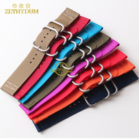 Wholesale Nylon Watchband Perlon Watch Strap 18mm 20mm 22mm 24mm Waterproof Sport Wristwatches Band Stainless Steel