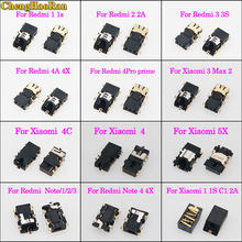 Chenghaoran Earphone Headphone Audio Jack Konektor untuk Xiaomi 3 4 4C 5X untuk Redmi Note/1/2/ 3/4X1 S 2 2A 3 3 S 4A 4X 4PRO Perdana(China)
