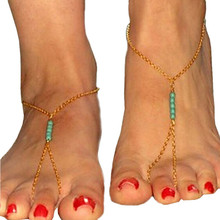 Bohemian Beach Beads Handmade Beaded Anklet Foot Toe Chain Bracelet Women Birthday Gift Wholesale Good Quality