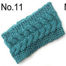 Compact CadetBlue Women's Crochet Knit Headband Hairband Flower Ear Headwrap Winter Autumn Warm Hair Accessories(China)